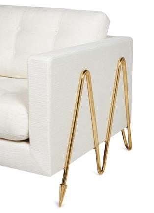 - JONATHAN ADLER - Maxime折纹黄铜框架布艺沙发