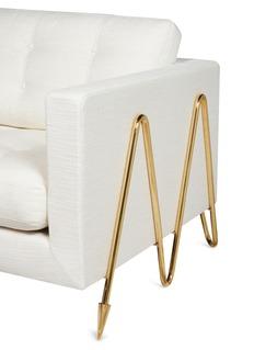 JONATHAN ADLER Maxime折纹黄铜框架布艺沙发