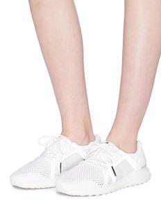 ADIDAS BY STELLA MCCARTNEY ultraBOOST真皮拼接网眼针织运动鞋