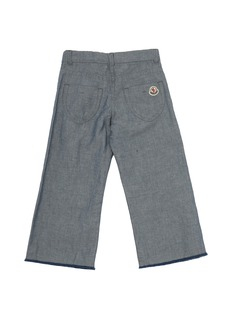 Moncler 儿童款须边裤脚口长裤
