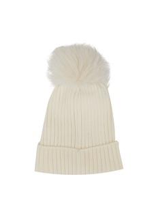 MONCLER (KIDS) 儿童款毛球缀饰针织帽
