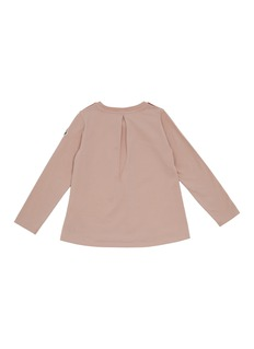 MONCLER (KIDS) 儿童款拼贴设计长袖T恤