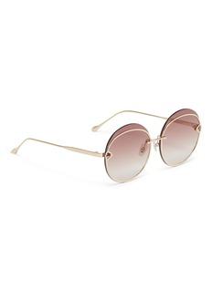 For Art's Sake QUARTZ不锈钢圆框太阳眼镜