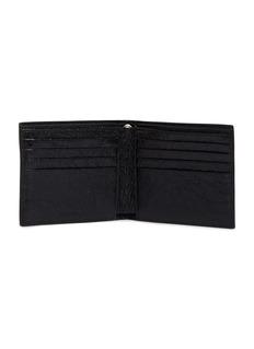 BALENCIAGA Explorer品牌名称皱感小羊皮链条折叠钱包