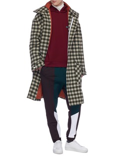 8ON8 拉链裤脚口拼色长裤