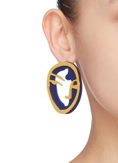 OOAK Portrait Silhouette人脸造型单只耳环