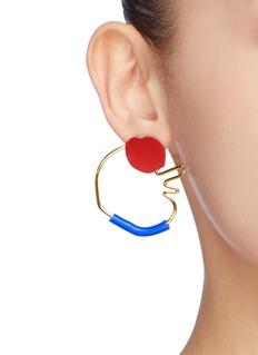 OOAK Abstract Outline可拆式抽象几何金属缀饰耳环