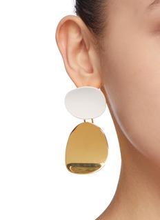 OOAK 不对称几何金属吊坠耳环