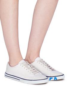BALENCIAGA 涂鸦品牌名称做旧感帆布运动鞋