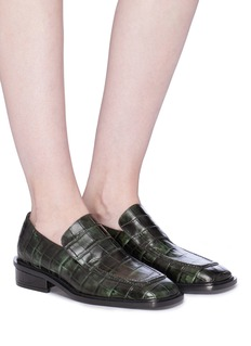 DRIES VAN NOTEN 鳄鱼纹理真皮乐福鞋