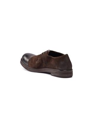 细节 - 点击放大 - Marsèll - Zucca Zeppa光滑拼接仿旧真皮德比鞋