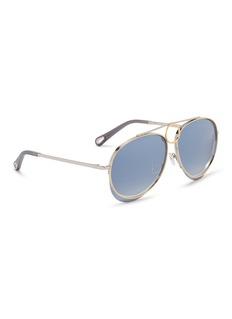 CHLOÉ Romie装饰圆环飞行员镜面太阳眼镜
