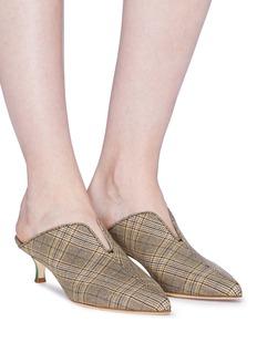 TIBI Dana编织格纹小猫跟穆勒鞋
