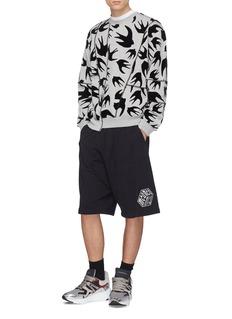 MCQ ALEXANDER MCQUEEN 拼接设计植绒燕子纯棉卫衣