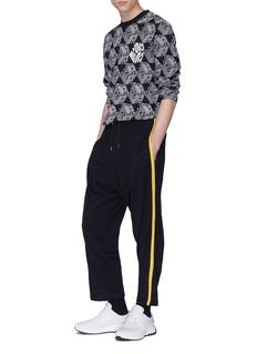 MCQ ALEXANDER MCQUEEN 侧条纹初剪羊毛针织休闲裤