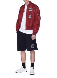 MCQ ALEXANDER MCQUEEN logo刺绣徽章纯棉polo衫