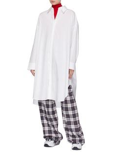 ACNE STUDIOS oversize纯棉衬衫裙
