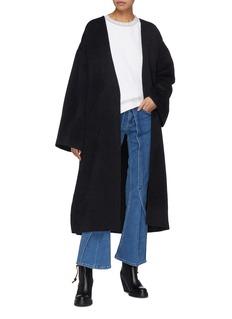 ACNE STUDIOS oversize双面羊毛混羊绒大衣