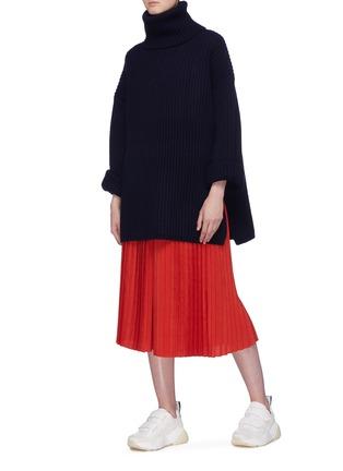 模特儿示范图 - 点击放大 - Acne Studios - 高领羊毛罗纹针织衫