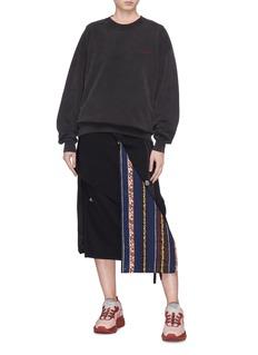 ACNE STUDIOS 品牌名称刺绣oversize纯棉卫衣