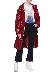 J BRAND Selena花卉蕾丝拼接露踝牛仔裤