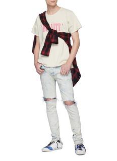 RHUDE 'BULLITT′英文字印花纯棉T恤