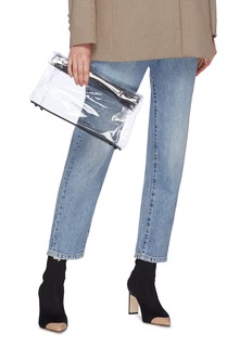 SIMON MILLER Lunch Bag 30CM真皮拼接PVC手拿包