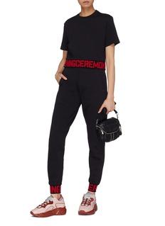 OPENING CEREMONY 折叠针织裤腰品牌名称休闲裤