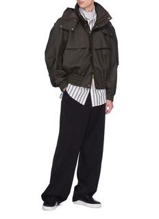 FENG CHEN WANG 可拆式兜帽涂层立领夹克
