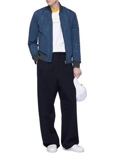 FENG CHEN WANG THE WAY HOME英文字缝线细节棉质T恤