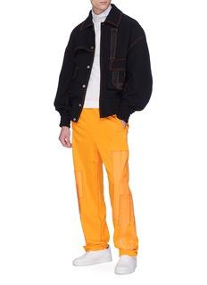 FENG CHEN WANG 松紧口袋几何图案抽绳休闲裤