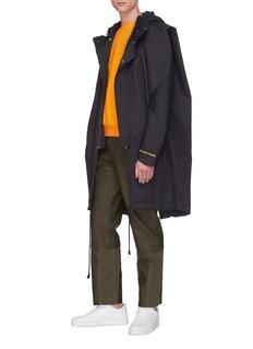 FENG CHEN WANG 可拆式裤腿涂层直脚长裤