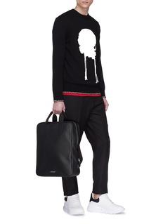 Alexander McQueen Shopper粒面小牛皮双肩包