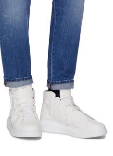 Alexander McQueen AMQ纳帕小羊皮oversize高筒运动鞋
