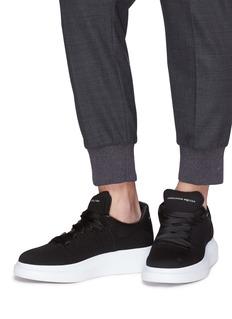 Alexander McQueen Larry oversize针织厚底运动鞋