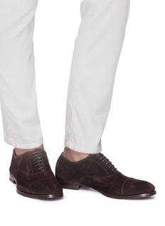 HENDERSON 车缝线绒面真皮牛津鞋