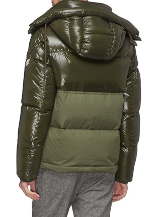 背面 - 点击放大 - MONCLER - 拼接设计连帽羽绒夹克