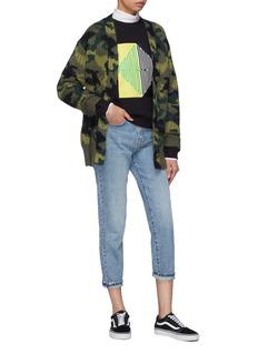 PROENZA SCHOULER PSWL oversize迷彩提花罗纹针织外套