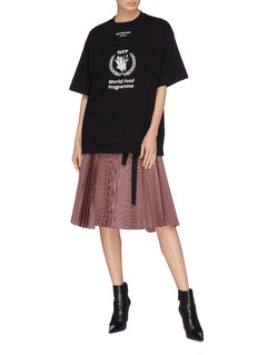 BALENCIAGA x World Food Programme英文标语oversize T恤