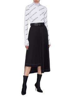 BALENCIAGA 品牌名称连帽罗纹针织衫