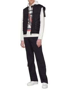 Moncler Genius x Craig Green拼色品牌标志印花连帽卫衣