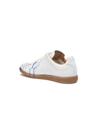 细节 - 点击放大 - MAISON MARGIELA - Replica泼墨图案真皮拼接绒面皮运动鞋
