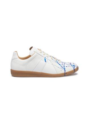首图 - 点击放大 - MAISON MARGIELA - Replica泼墨图案真皮拼接绒面皮运动鞋
