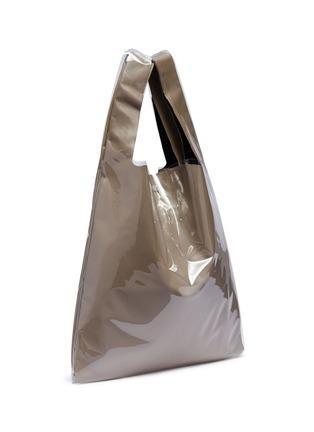 细节 - 点击放大 - Maison Margiela - Monoprix数字点缀PVC外层小牛皮托特包