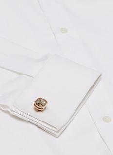 TATEOSSIAN Skeleton Window齿轮造型切割细节镀金金属袖扣