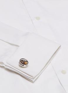 TATEOSSIAN 齿轮造型镀铑金属袖扣