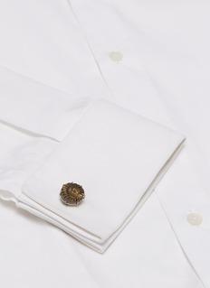 TATEOSSIAN 黄铁矿装饰镀铑纯银袖扣