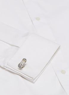 TATEOSSIAN 沙漏造型镀铑金属袖扣