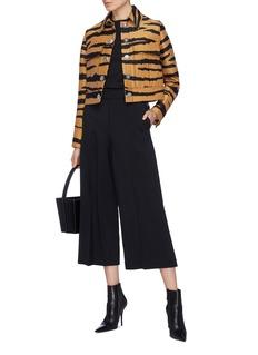 PROENZA SCHOULER 压褶设计高腰露踝喇叭裤