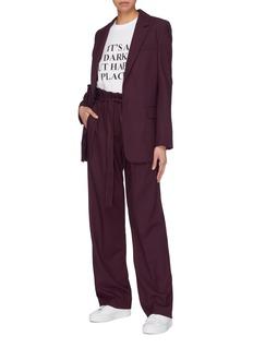 VICTORIA, VICTORIA BECKHAM 系带百褶混羊毛长裤